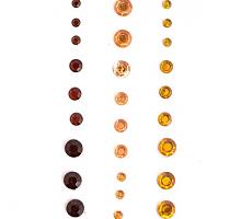 Клеевые стразы золотисто-коричневая гамма 27шт