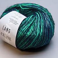 Пряжа CELINE, цвет 0058 бирюзово-черный