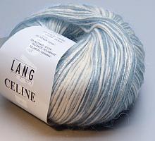 Пряжа CELINE, цвет 0020 бело-голубой