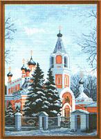 "Рисунок на канве 37х49см арт.711 ""Церковь Николая Чудотворца"""