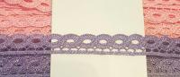 Кружево вязаное волна сиреневое