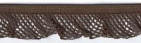 Рюш эластичный PEGA, цвет коричневый, 17 мм