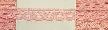Кружево вязаное волна розовое