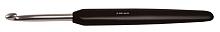 """Крючок для вязания с эргономичной ручкой """"Basix Aluminum"""" 2,5мм, алюминий, серебристый/черный"""