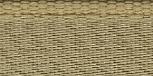 Молния RIRI металл. GO, 6 мм, 16 см, на атласной тесьме, 1 замок неразъемный, FLASH, цвет 2213 золотисто-бежевый