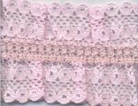 Кружево на резинке,  цвет бледно-розовый 40 мм.