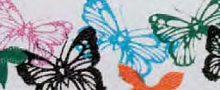 "Лента атласная на картонной катушке ""Бабочки"", 5 м"