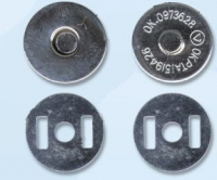 Кнопка магнитная на усиках 17 мм, цвет никель