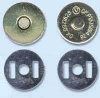 Кнопка магнитная на усиках 17 мм, цвет золото