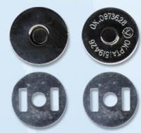 Кнопка магнитная на усиках 17 мм, цвет черный никель