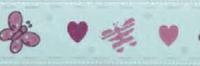 """Лента репсовая на картонной катушке """"Бабочки и сердечки"""", 5 м"""
