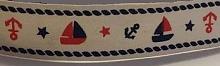 """Лента хлопковая на картонной катушке """"Морское"""", 5 м"""
