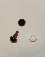 Глаза кристальные коричневые с шайбами 10 пар диам.6 мм
