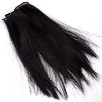 Трессы прямые, длина 30 см, цвет черный