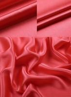 Креп-сатин, цвет коралловый