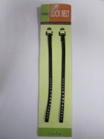 Бретели для бюстгальтера со стразами черные , 5 мм