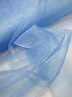 Фатин синий блестящий