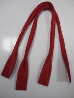 Ручки сумочные готовые красные, 68см
