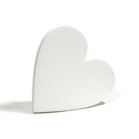 Сердце из пенопласта плоское, 10х10см