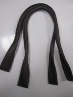 Ручки сумочные готовые темно-серые, 65см