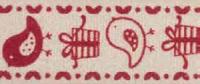 """Лента хлопковая на картонной катушке """"Птички и подарки"""", 5 м"""