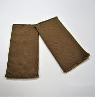 Манжеты  трикотажные кругловязанные, цвет коричневый