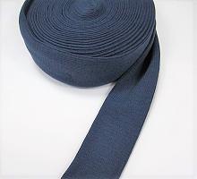 Манжеты  трикотажные кругловязанные на метраж, цвет синий