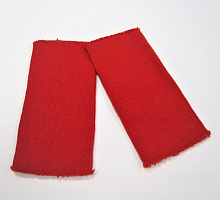 Манжеты  трикотажные кругловязанные, цвет красный