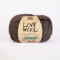 Пряжа Love Wool, цвет 103 темно-коричневый