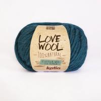 Пряжа Love Wool, цвет 118 бирюзовый