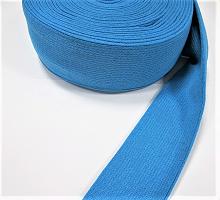 Манжеты  трикотажные кругловязанные на метраж, цвет ярко-голубой