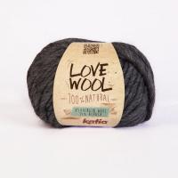 Пряжа Love Wool, цвет 107 темно-серый