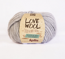Пряжа Love Wool, цвет 105 жемчужно-серый