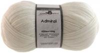 Пряжа Admiral, 100 гр., цвет 990 белый