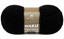 Пряжа Nako Pure Wool (Пур вул), цвет 217 черный