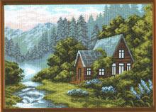 """Рисунок на канве 37х49см арт.650 """"Отдых в горах"""""""