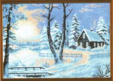 """Рисунок на канве 37х49см арт.655 """"Морозное утро"""""""