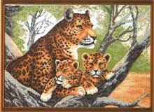 """Рисунок на канве 37х49см арт.615 """"Гепард с малышами"""""""