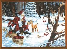 """Рисунок на канве 37х49см арт.651 """"Рождественские подарки"""""""