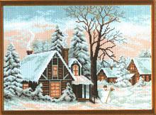 """Рисунок на канве 37х49см арт.654 """"Зима"""""""