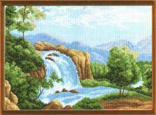 "Рисунок на канве 37х49см арт.685 ""Водопад"""