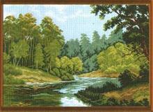 "Рисунок на канве 37х49см арт.598 ""Зеленый край"""