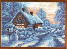 "Рисунок на канве 37х49см арт.642 ""Зимушка"""