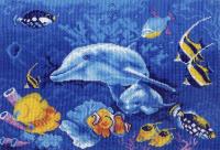 """Рисунок на канве 37х49см арт.688 """"Подводный мир"""""""