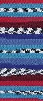 Пряжа Boho (Бохо) цвет 81254 красно-синий