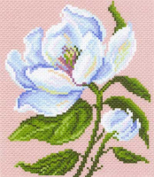 "Канва с рисунком 28х34см Матренин посад, ""Магнолия в цвету"""