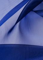 Органза темно-синяя