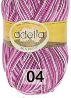 Adelia «MIA PRINT» №  04 сиреневый-белый