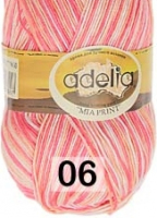 Adelia «MIA PRINT» №  06 белый-кремовый-розовый