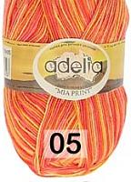Adelia «MIA PRINT» №  05 розовый-оранжевый-желтый